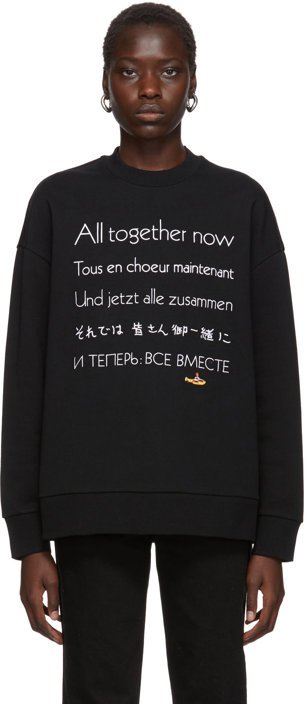 Stella Mccartney Tops Black The Beatles Edition 'All Together Now' Sweatshirt