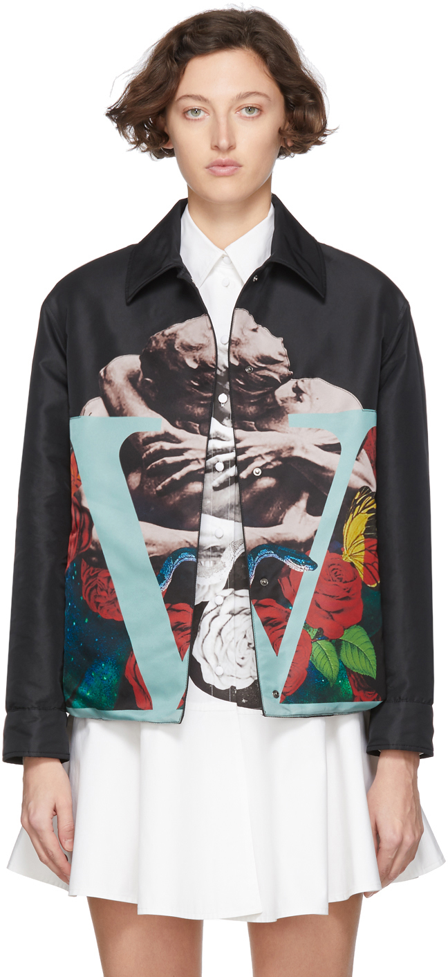 Valentino Jackets Black Lovers Jacket