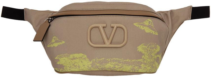 Valentino Belt Beige Valentino Garavani Undercover Edition VLogo UFO Belt Bag