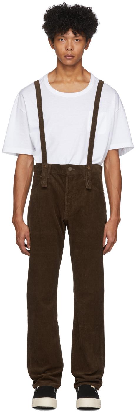 Visvim Pants Green Fluxus Travailleur Corduroy Trousers