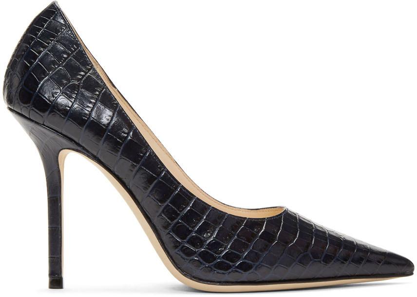 Jimmy Choo Shoes Navy Love 100 Heels