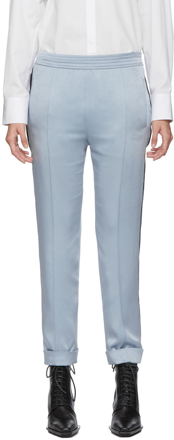 Haider Ackermann Pants Blue Kuiper Elastic Waistband Trousers