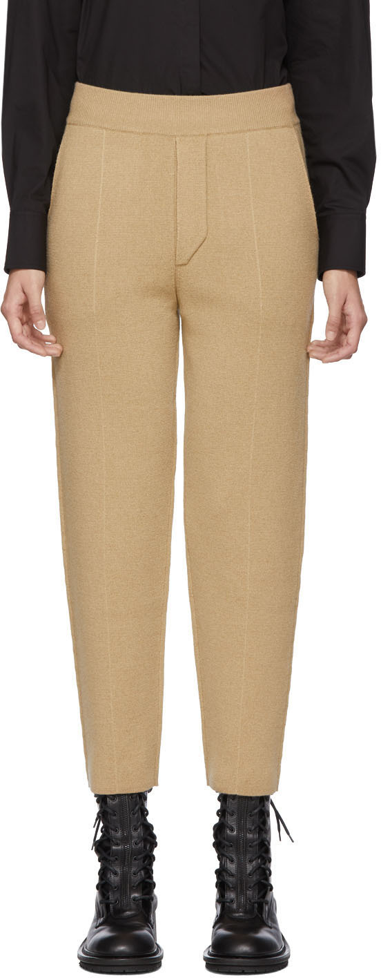 Haider Ackermann Pants Tan Knitted Trousers