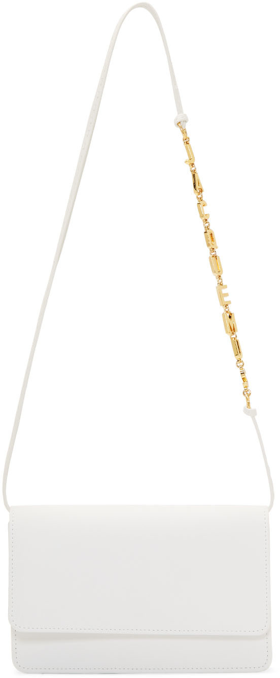 Jacquemus Shoulder White 'Le Sac Riviera' Bag