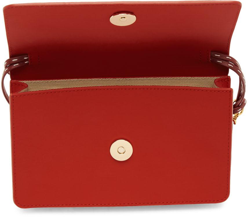 Jacquemus Shoulder Red 'Le Sac Riviera' Bag
