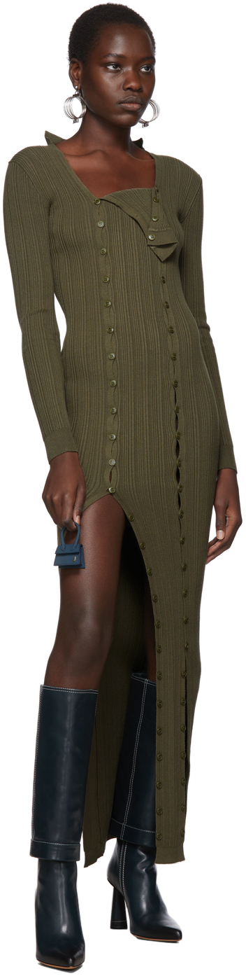 Jacquemus Dresses Khaki 'La Robe Maille Azur' Dress