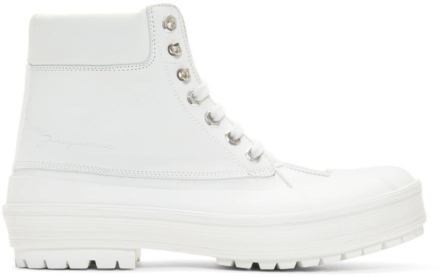 Jacquemus Boots White 'Les Meuniers Hautes' Boots