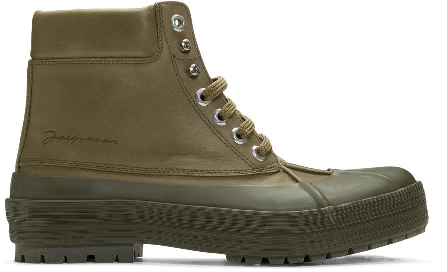 Jacquemus Boots Khaki 'Les Meuniers Hautes' Boots