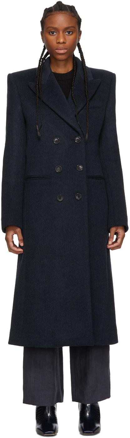 Isabel Marant Coats Navy Roleen Coat
