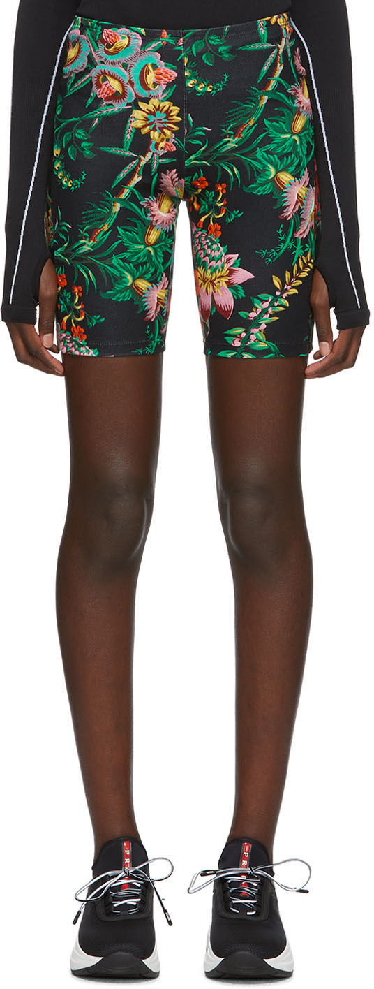 Paco Rabanne Shorts Black Viscose Printed Shorts