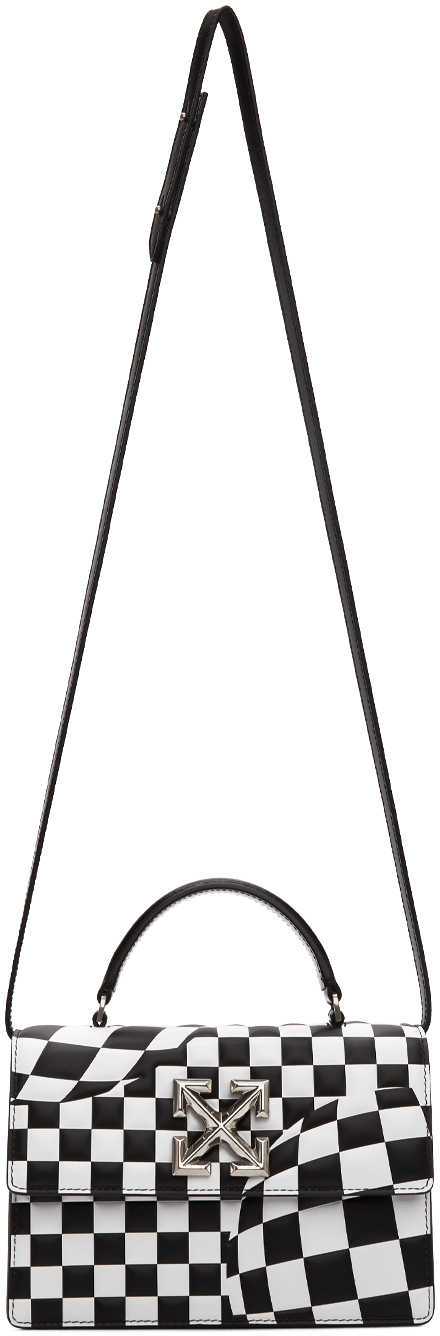 Off-White Accessories Black & White Check Jitney 1.4 Bag