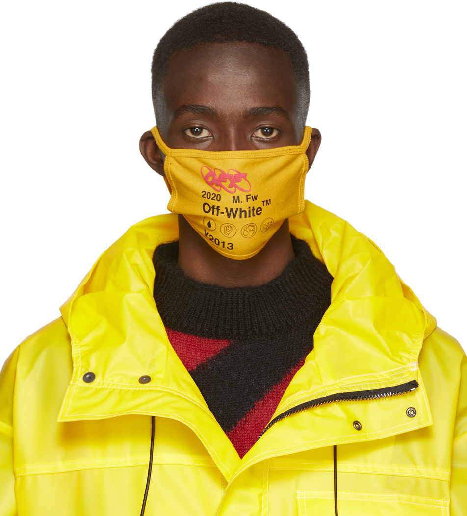 Off-White Accessories Yellow Industrial Mask