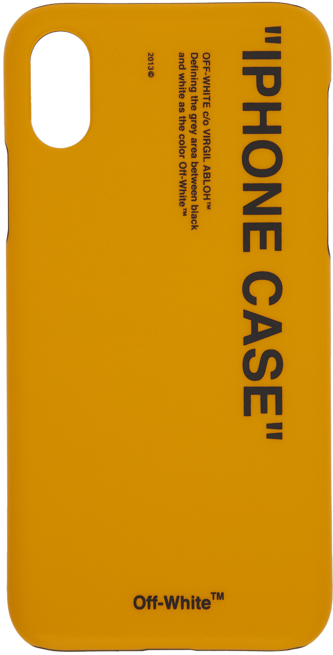 Off-White Cases Yellow Quote iPhone X Case