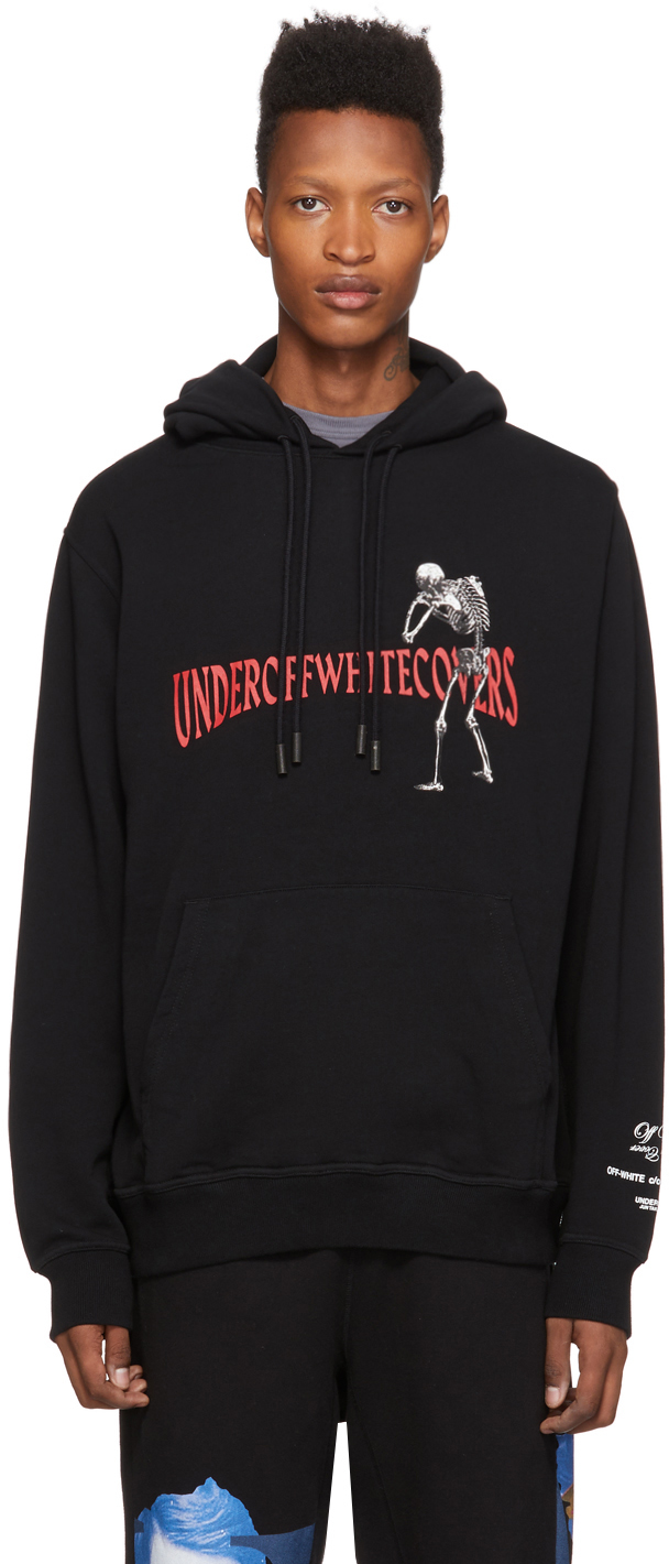 Off-White Accessories Black Undercover Edition Skeleton RVRS Arrows Hoodie