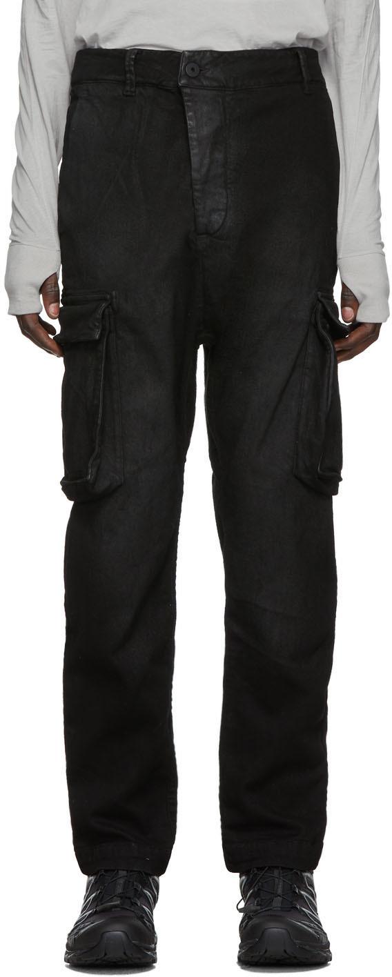 11 By Boris Bidjan Saberi Pants Black Used Felt Cargo Pants