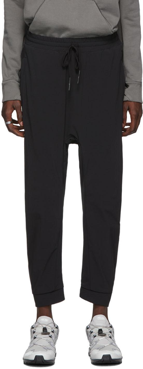 11 By Boris Bidjan Saberi Pants Black Drawstring Lounge Pants