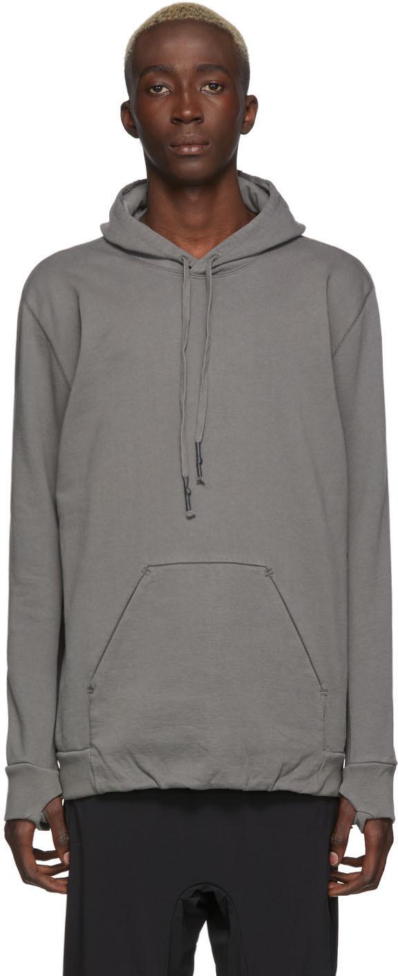 11 By Boris Bidjan Saberi Accessories Grey Dyed Hoodie