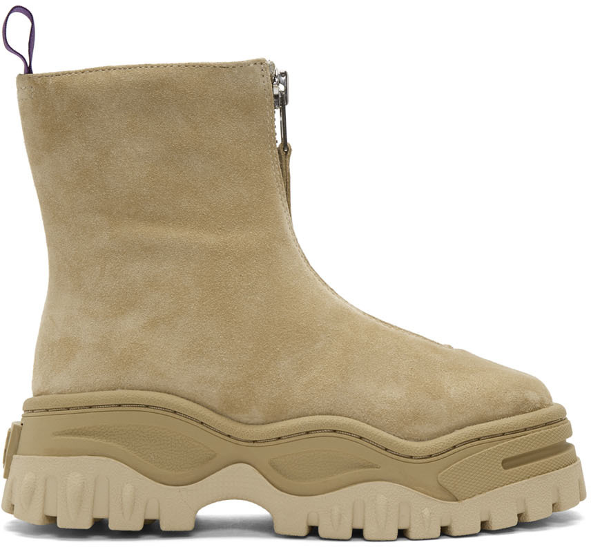 Eytys Boots Tan Suede Raven Boots