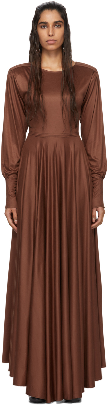 Lemaire Dresses Brown Jersey Long Dress