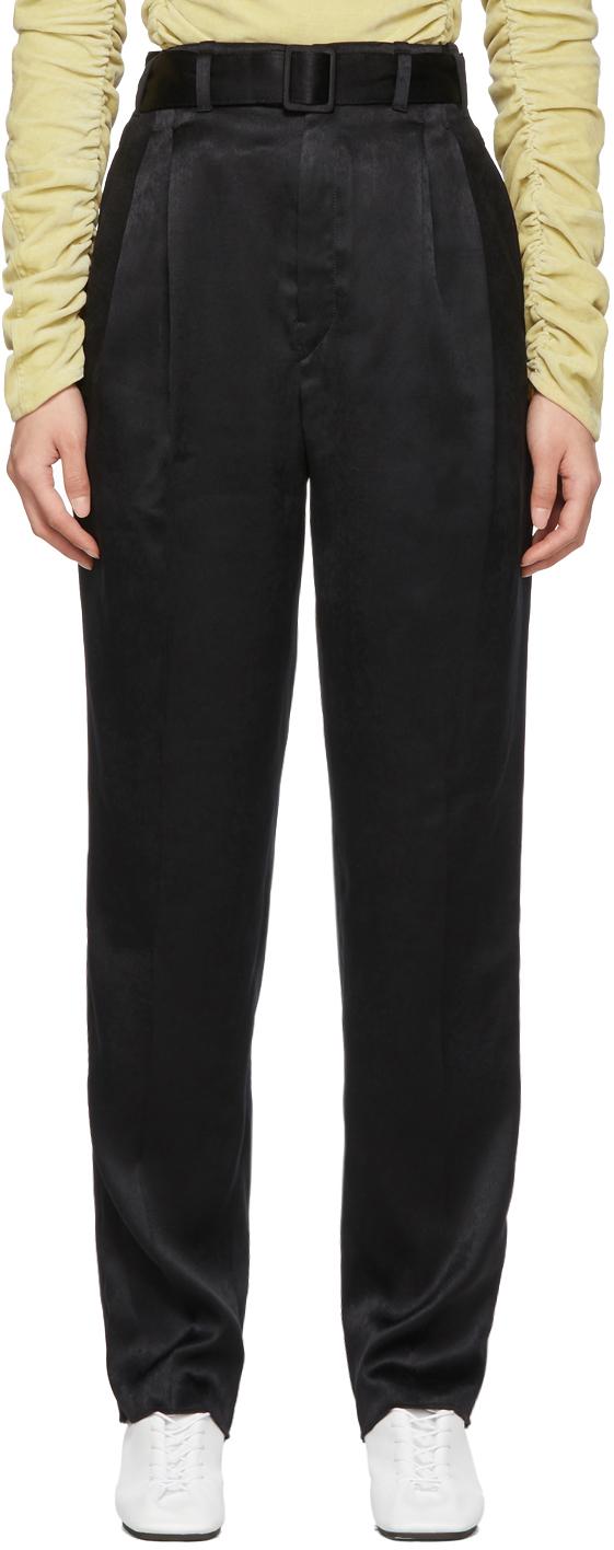 Lemaire Pants Black Pleated Pants