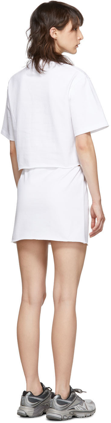 Vetements Dresses White 'Happy Birthday' T-Shirt Dress Set