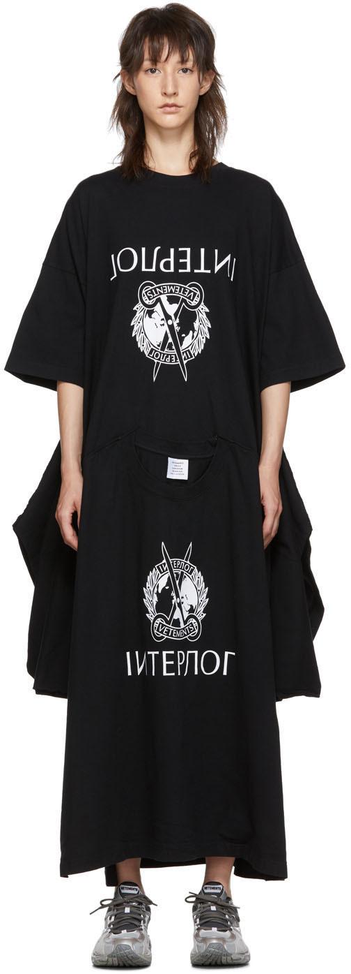 Vetements Dress Black T-Shirt Dress