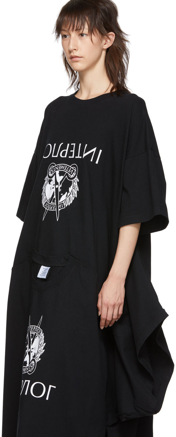 Vetements Dresses Black T-Shirt Dress