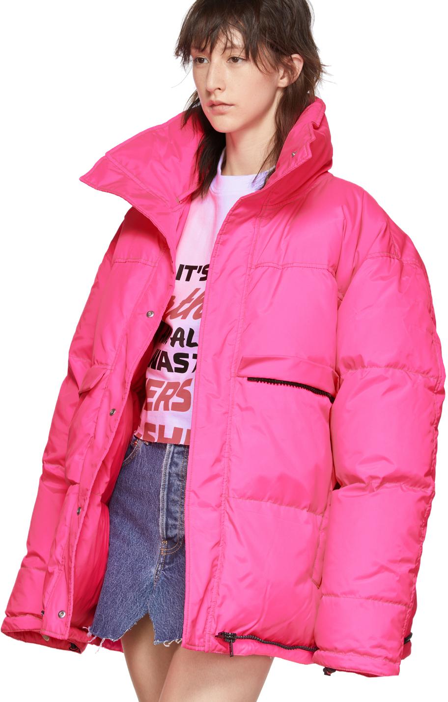 Vetements Jackets Pink Down Puffer Jacket