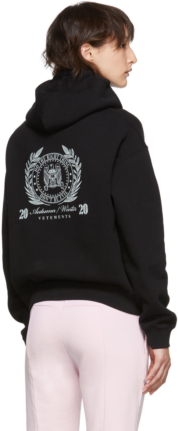 Vetements Accessories Black President Print Hoodie