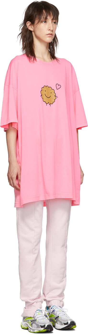 Vetements T-shirts Two-Pack Pink Milk Cookie Couple T-Shirt