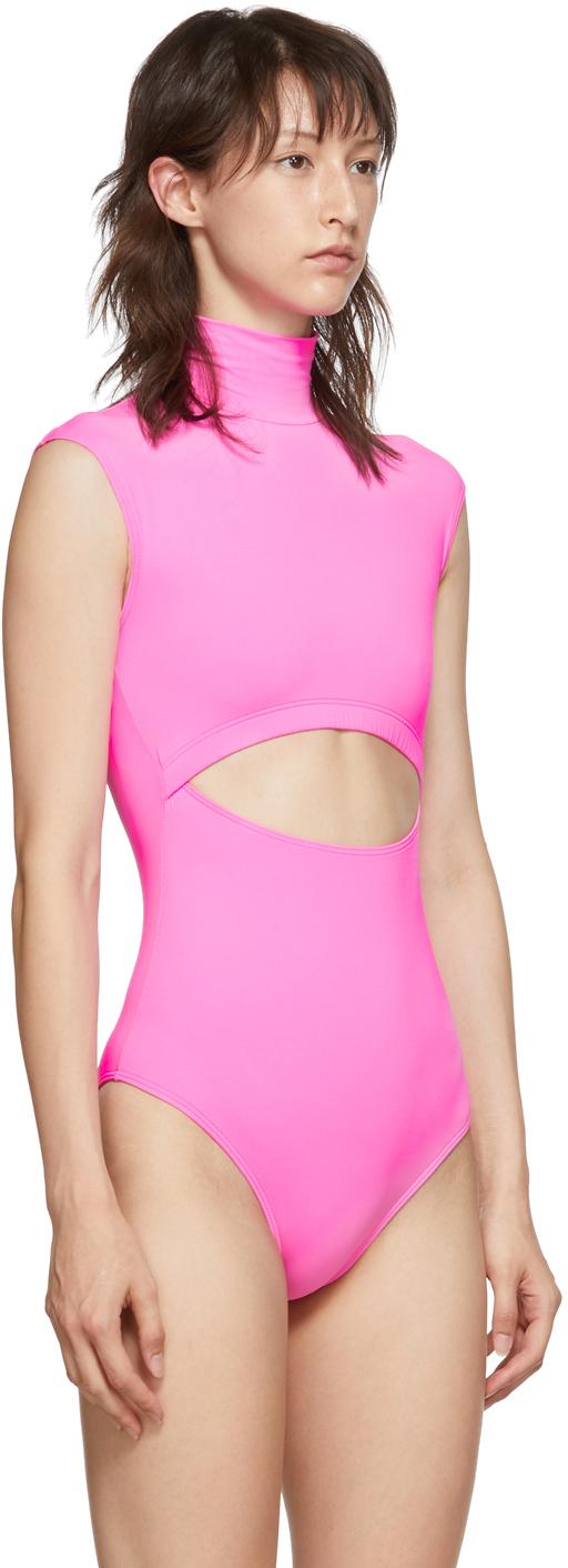 Vetements Suits Pink Cut-Up Bodysuit