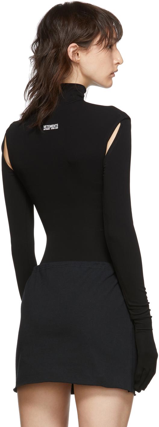 Vetements Suits Black Cut-Up Bodysuit