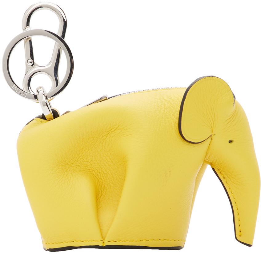 Loewe Keychains Yellow Elephant Charm Keychain