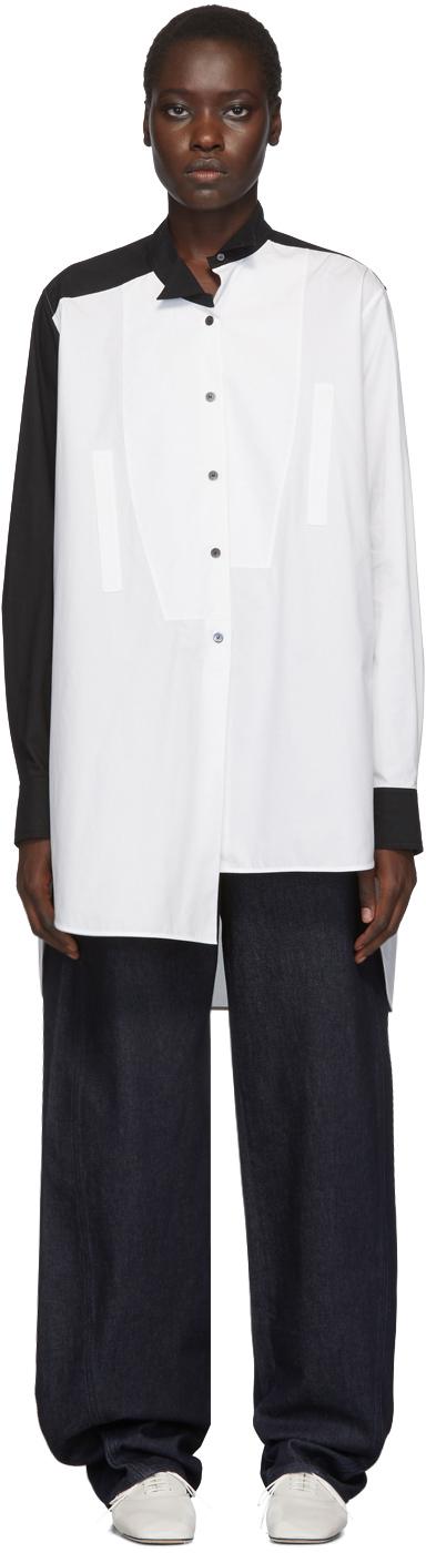 Loewe T-shirts White Long Asymmetric Shirt