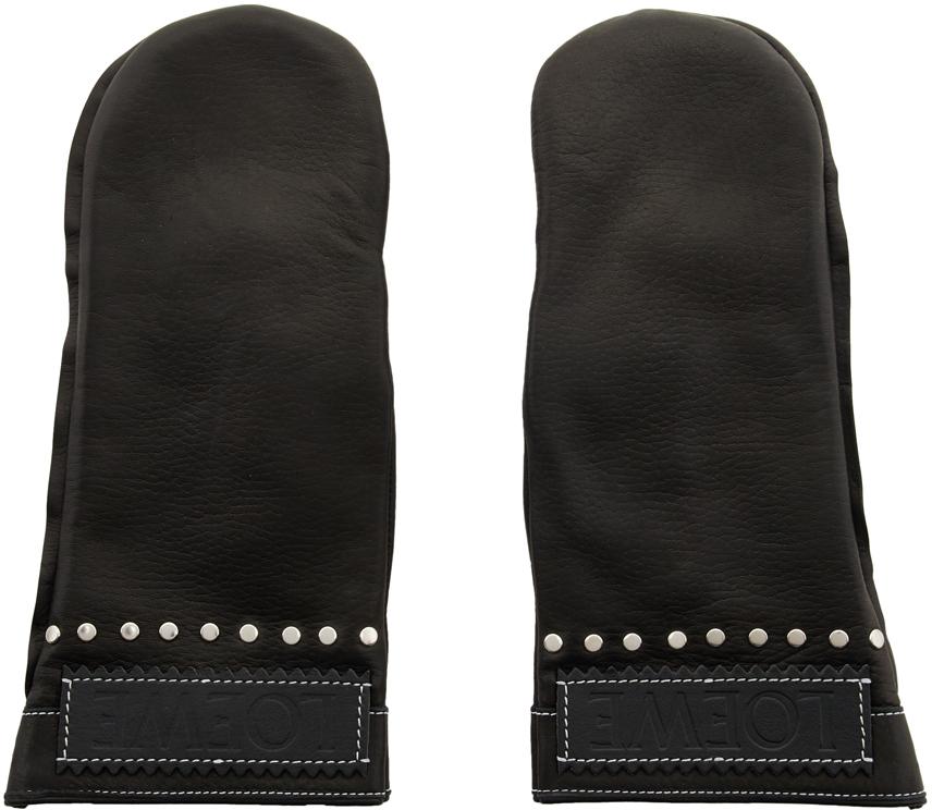 Loewe Gloves Black Moufle Mittens