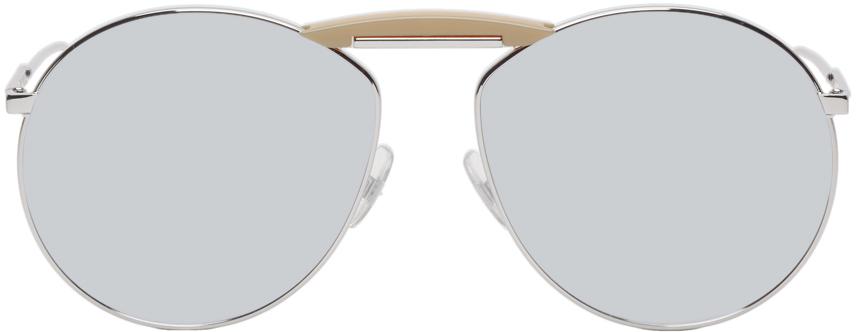 Fendi Sunglasses Silver Gentle Monster Edition Aviator Sunglasses