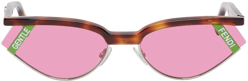 Fendi Sunglasses Tortoiseshell Gentle Monster Edition Cat-Eye Sunglasses
