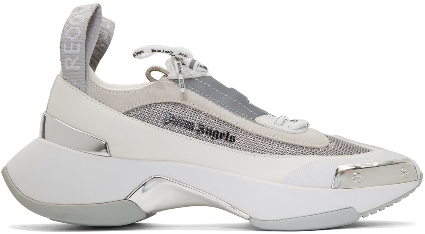 Palm Angels Sneakers White & Silver Recovery Lace-Up Sneakers