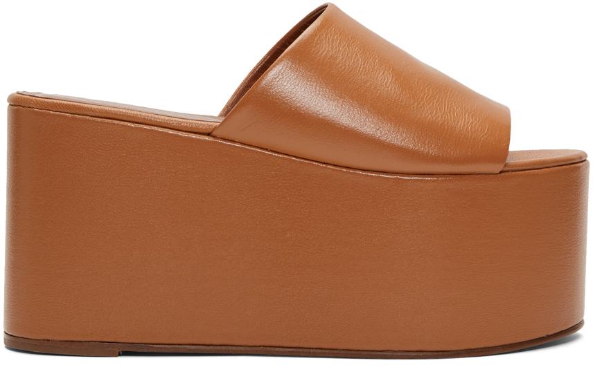 Simon Miller Flats Tan Blackout Platform Sandals