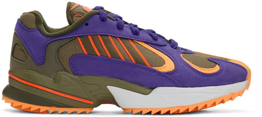 Adidas Originals Sneakers Green & Purple Yung-1 Trail Sneakers