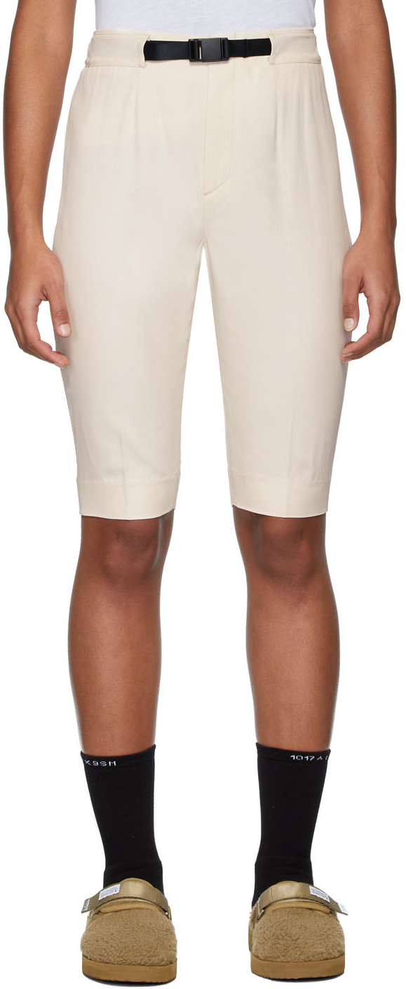 John Elliott Pants Off-White Bermuda Shorts