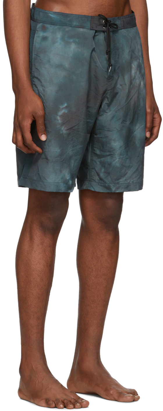 John Elliott Beachwear Navy Solar Board Shorts