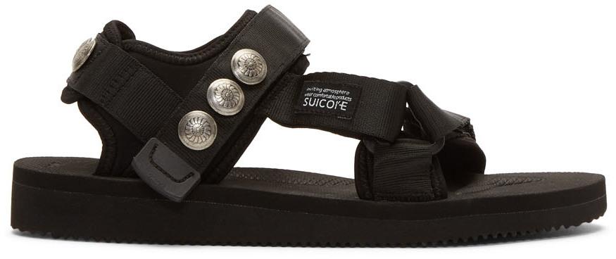 John Elliott Sandals Black Suicoke & Blackmeans Edition Lotus Sandals