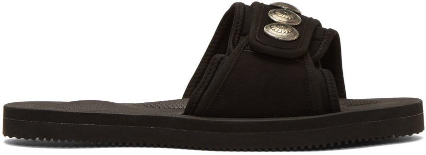 John Elliott Sandals Black Suicoke & Blackmeans Edition Lotus Slip-On Sandals