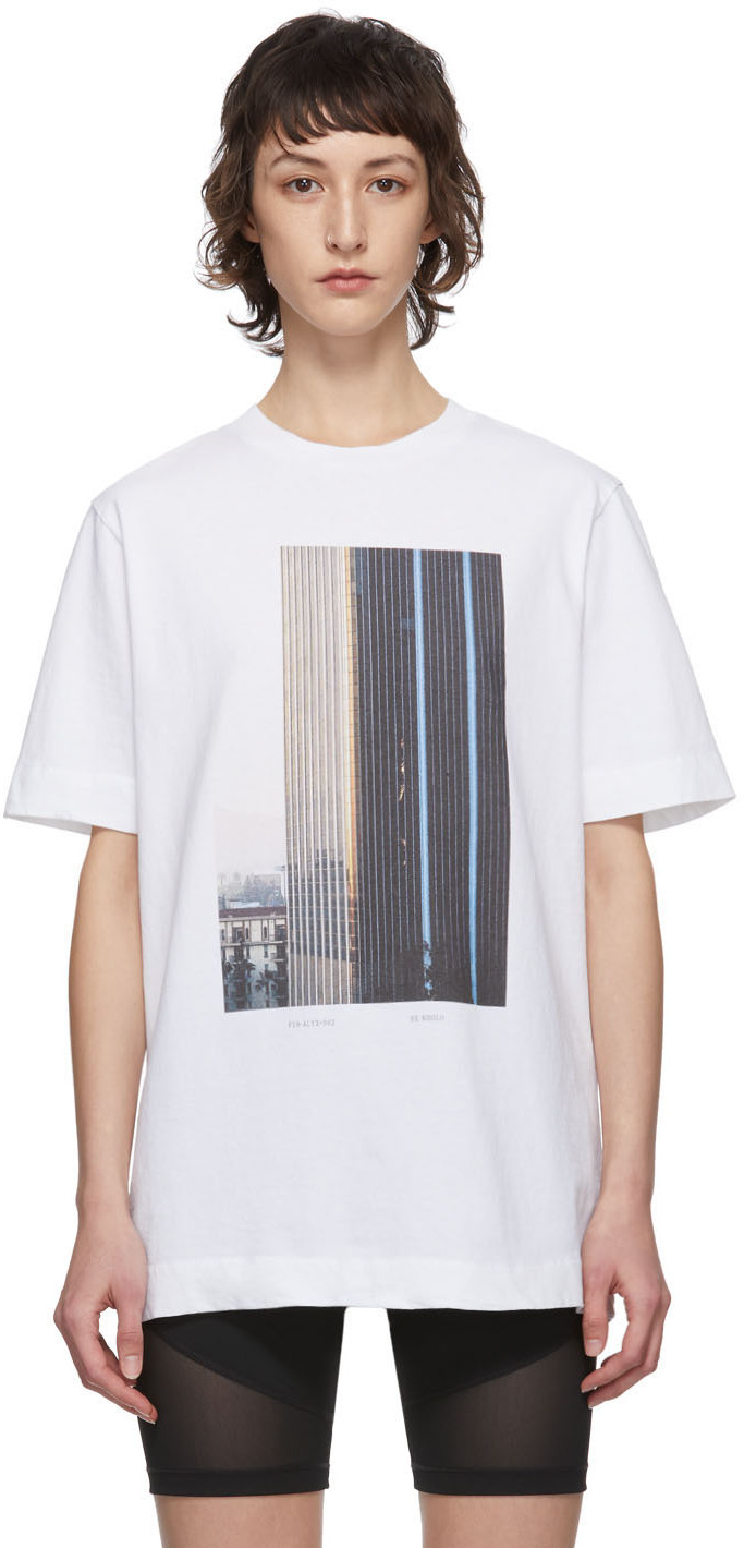 1017 Alyx 9sm T-shirts White Ex Nihilo Skyscraper T-Shirt