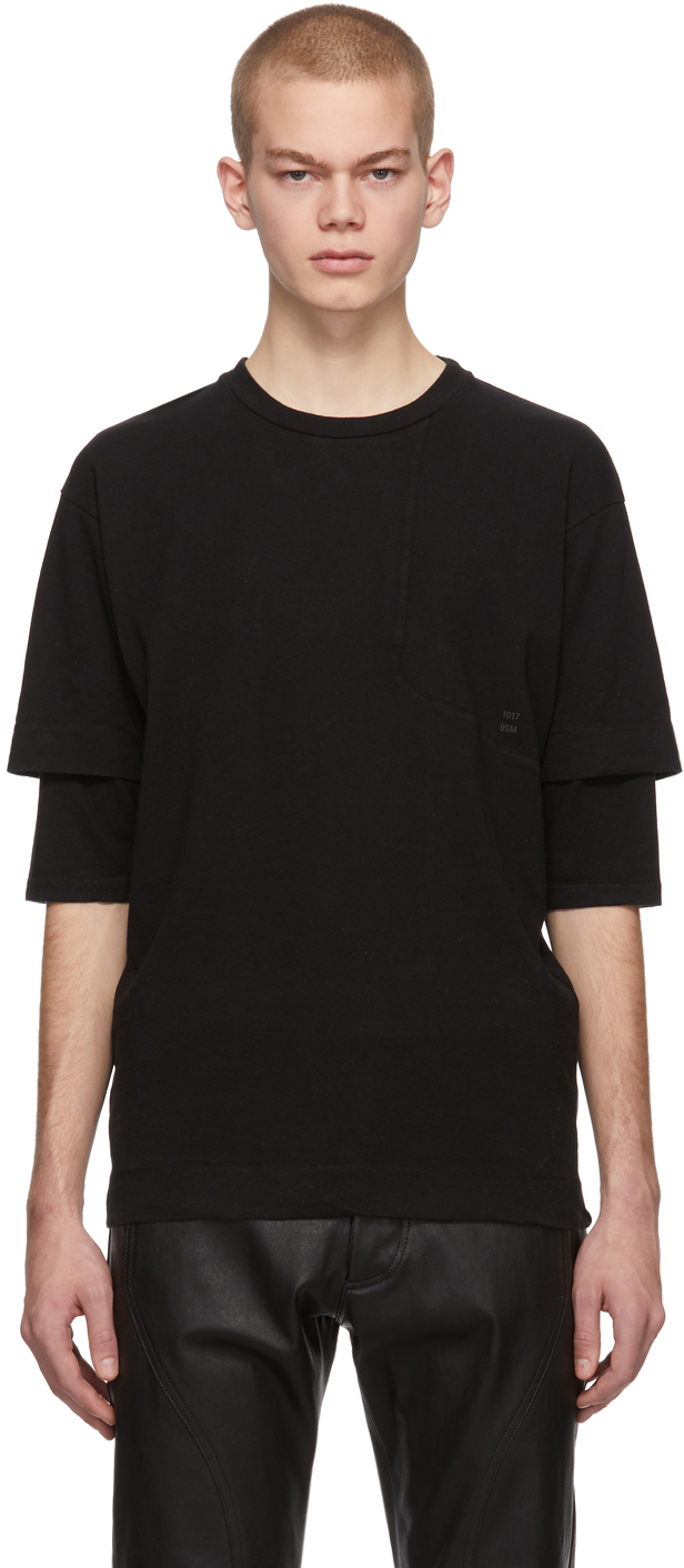 1017 Alyx 9sm T-shirts Black Bonded Sleeve T-Shirt