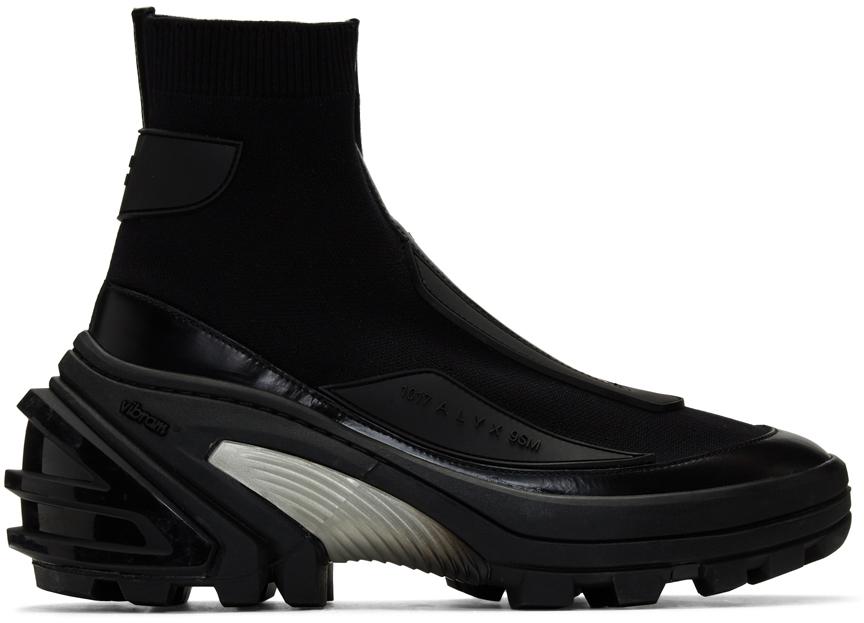 1017 Alyx 9sm Knits Black Knit Boots