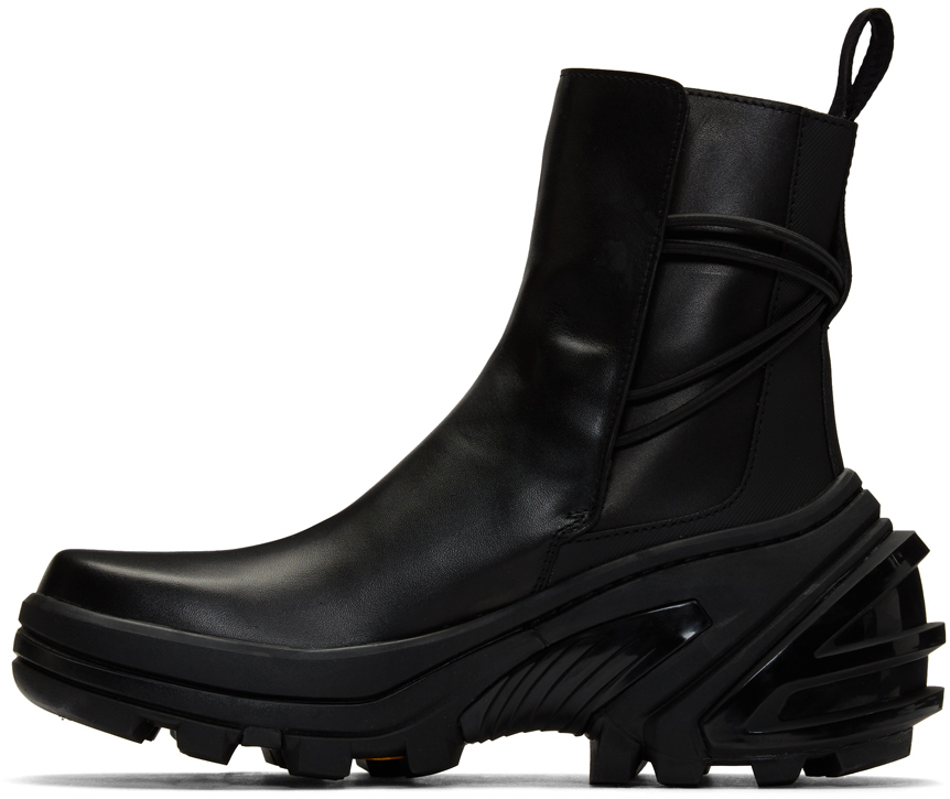 1017 Alyx 9sm Boots Black Fixed Sole Low Buckle Boots