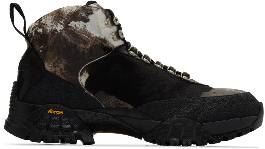 1017 Alyx 9sm Boots Brown Pony Camo Hiking Boots