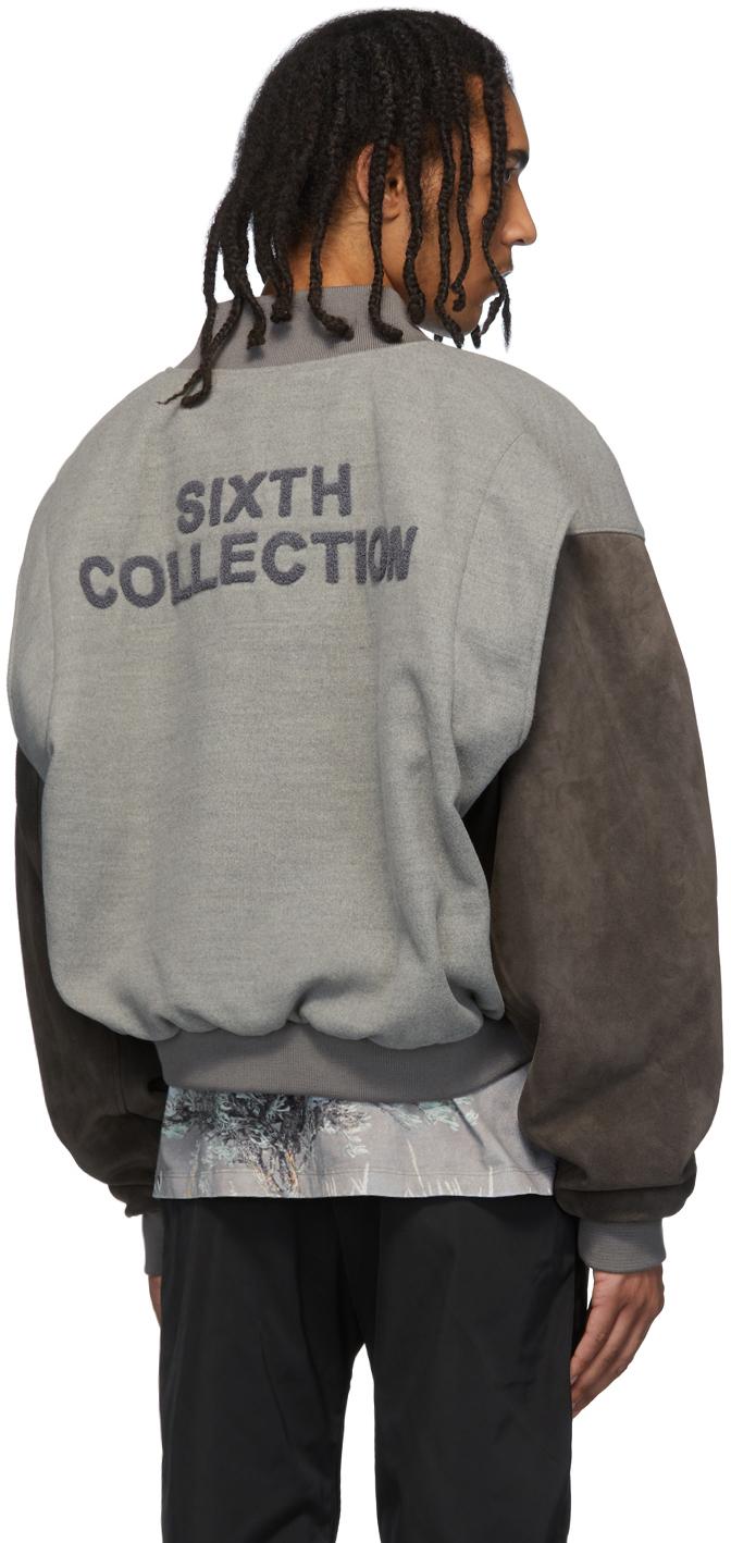 Fear Of God Jackets Grey 'Sixth Collection' Varsity Jacket
